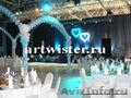 Оформление воздушными шарами свадьбы в Москве
