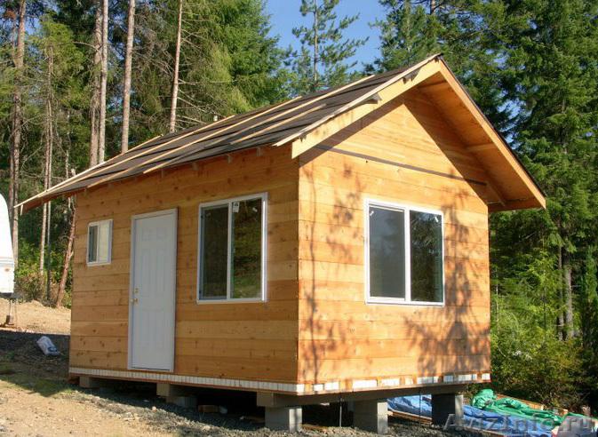 Как построить маленький дачный домик своими руками...