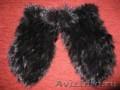 Женские зимние варежки из меха норки.