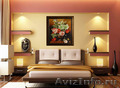 Картина лентами - Пионы и лилии