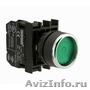 Кнопка нажимная с фиксацией,  без подсветки,  зеленая (1НО) B100FY Emas