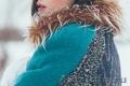 Женское бирюзовое зимнее пальто с мехом (шуба) - Изображение #4, Объявление #1594015