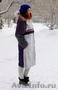 Женское темно-фиолетовое зимнее пальто с мехом (шуба) - Изображение #2, Объявление #1594021