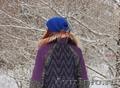 Женское темно-фиолетовое зимнее пальто с мехом (шуба) - Изображение #3, Объявление #1594021