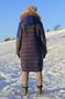 Женское с синими рукавами зимнее пальто с мехом (шуба) - Изображение #3, Объявление #1594023