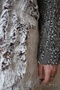 Женское с синими рукавами зимнее пальто с мехом (шуба) - Изображение #4, Объявление #1594023