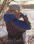 Женское с синими рукавами зимнее пальто с мехом (шуба) - Изображение #5, Объявление #1594023