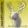 Голова оленя на стену,  декор стены,  интерьер,  ручная работа,  подарок,  для дома и