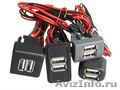 USB зарядное устройство встраиваемое для LADA, Газелей NEXST,  Валдай 3А